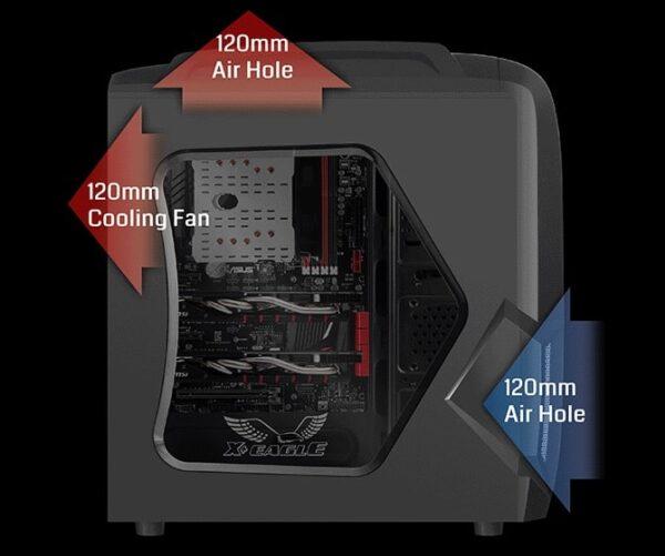 کیس کامپیوتر گرین مدل X-Plus Eagle