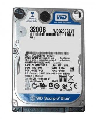 هارد لپ تاپ 320 گیگ وسترن دیجیتال