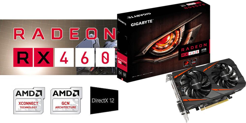 کارت گرافیک گیگابایت RX 460 WF2X OC 4GB