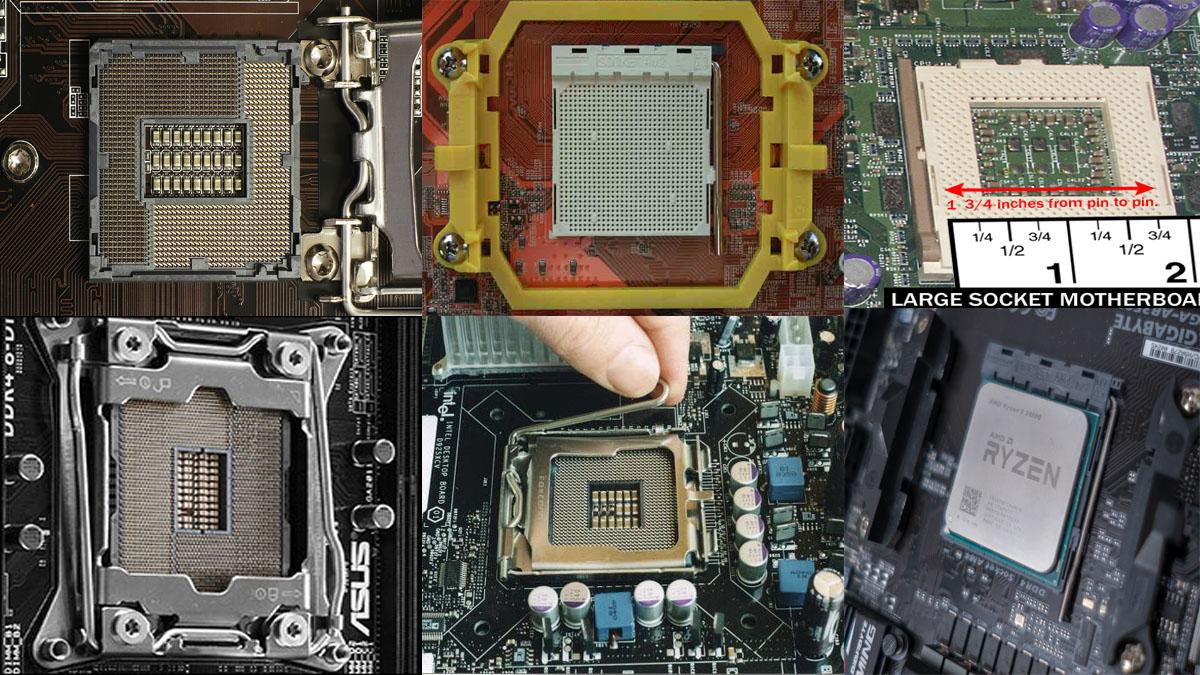 نمایی از انواع سوکت پردازنده