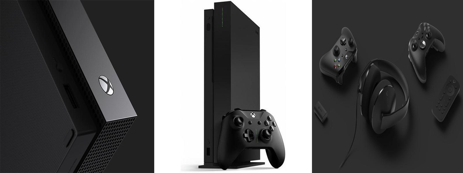 کنسول بازی Xbox One X همراه دو دسته
