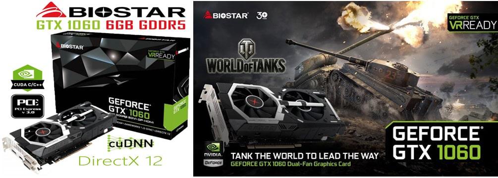 کارت گرافیک Biostar GeForce GTX 1060 6GB