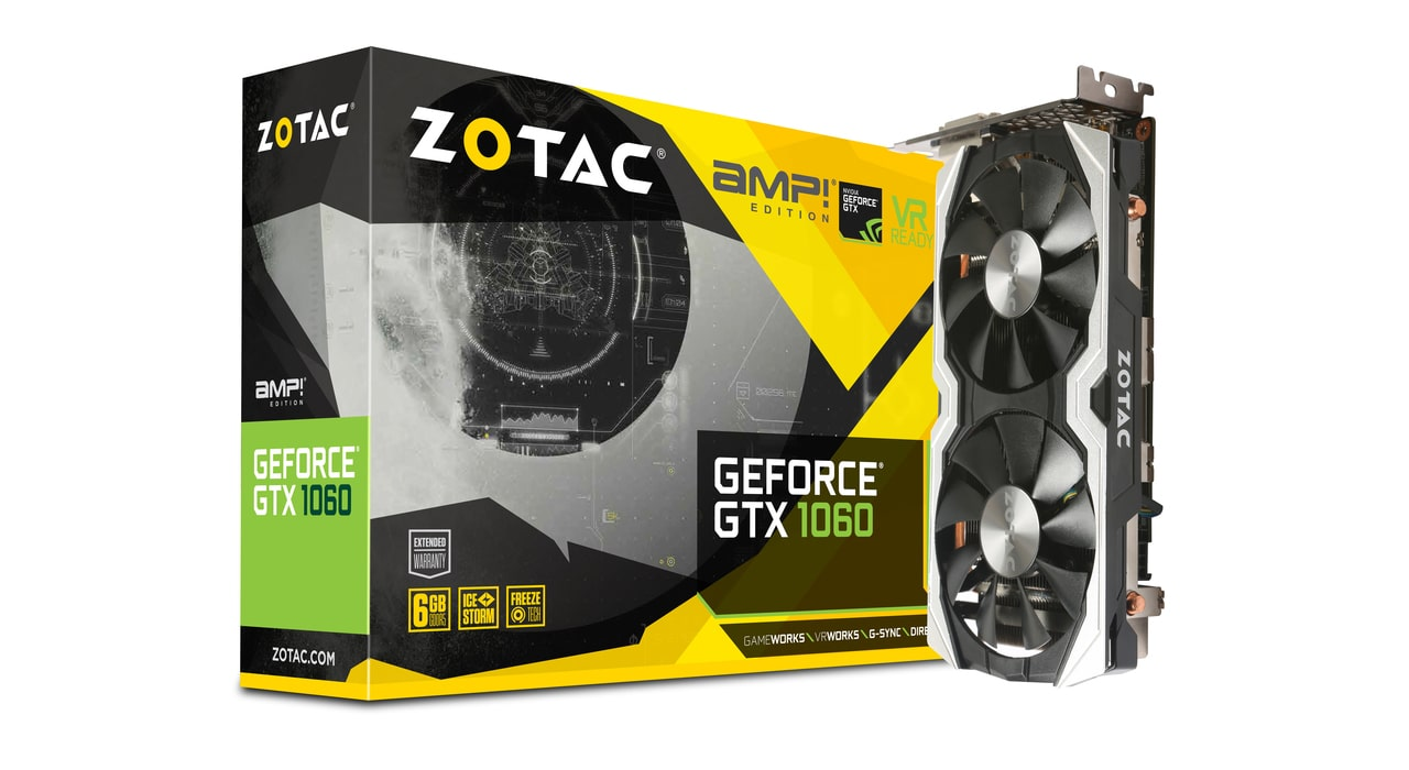 کارت گرافیک ZOTAC GeForce® GTX 1060 6GB AMP