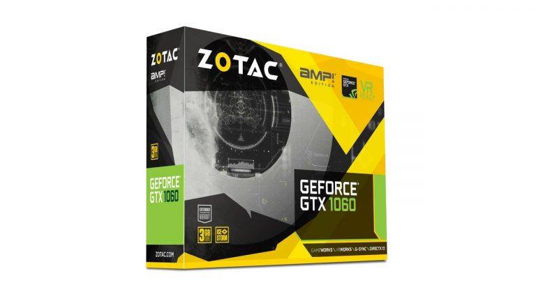 کارت گرافیک zotac geforce gtx 1060 3gb amp edition