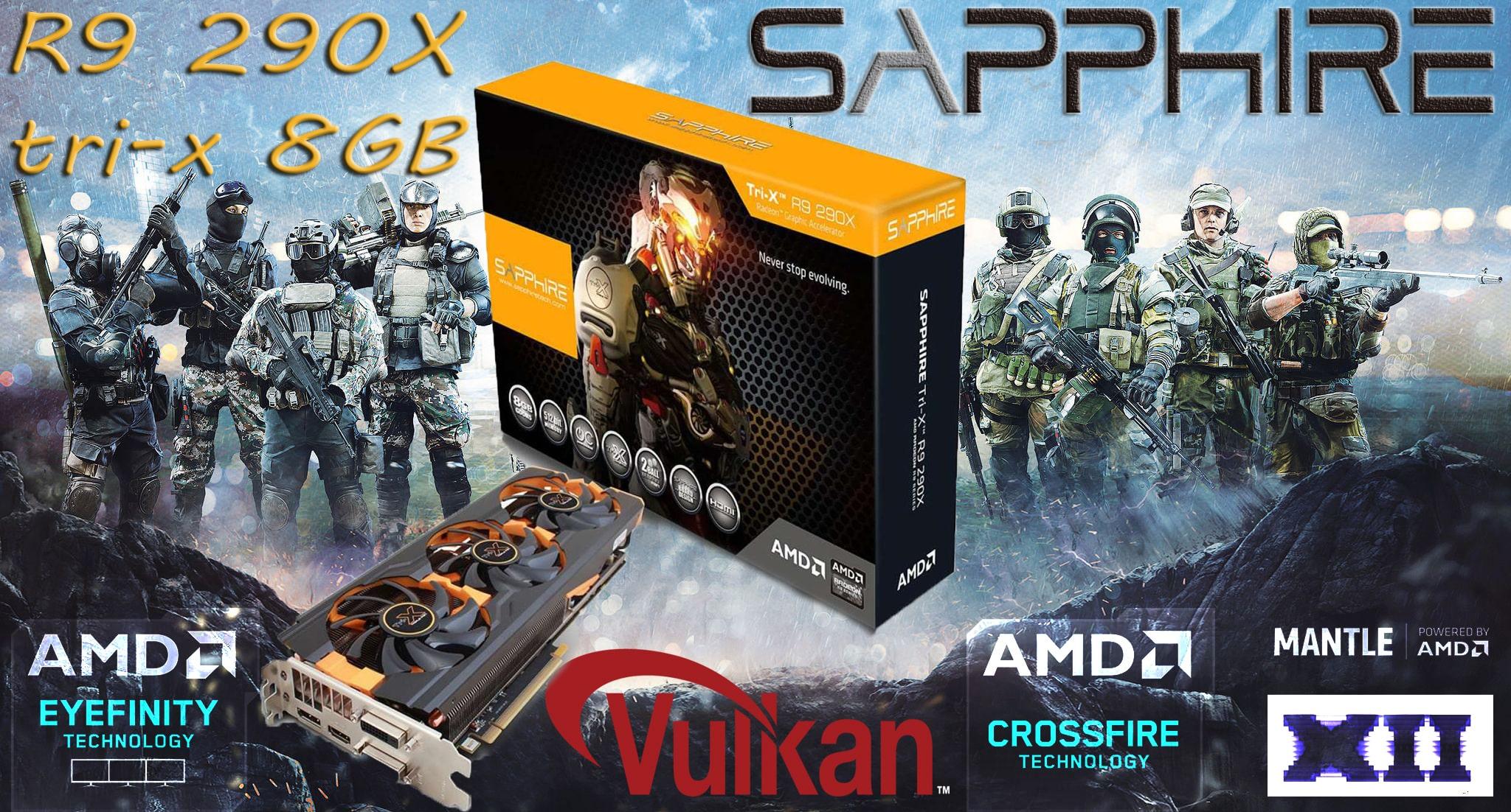 کارت گرافیک سافایر Graphic Card Sapphire Tri-X R9 290X 8GB