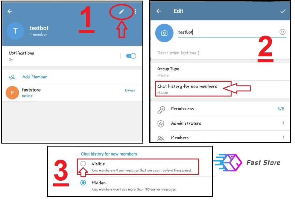 اموزش تبدیل گروه به سوپر گروه در اپدیت جدید تلگرام