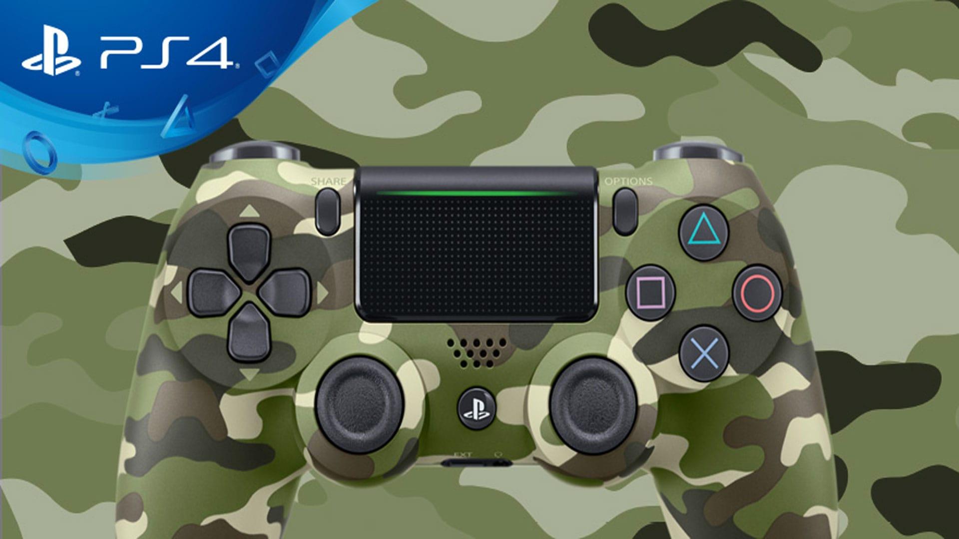 کنترلر جدید پلی استیشن ۴ چریکی سبز ps4 urban camouflage