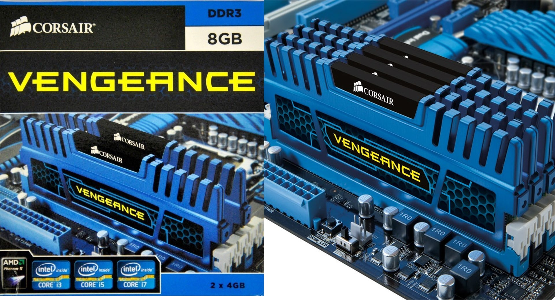رم دوال چنل کورسیر Vengeance 8GB 2x4GB 1600Mhz DDR3