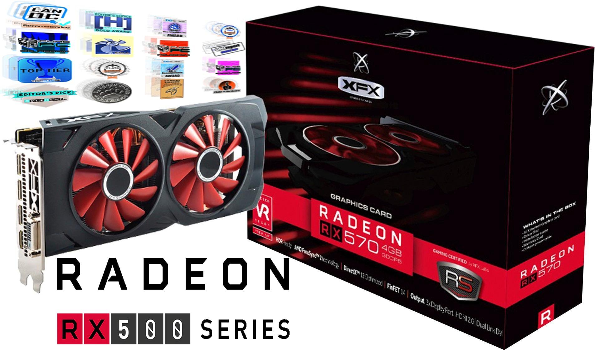 کارت گرافیک ایکس اف ایکس ار ایکس XFX Radeon RX 570 4GB