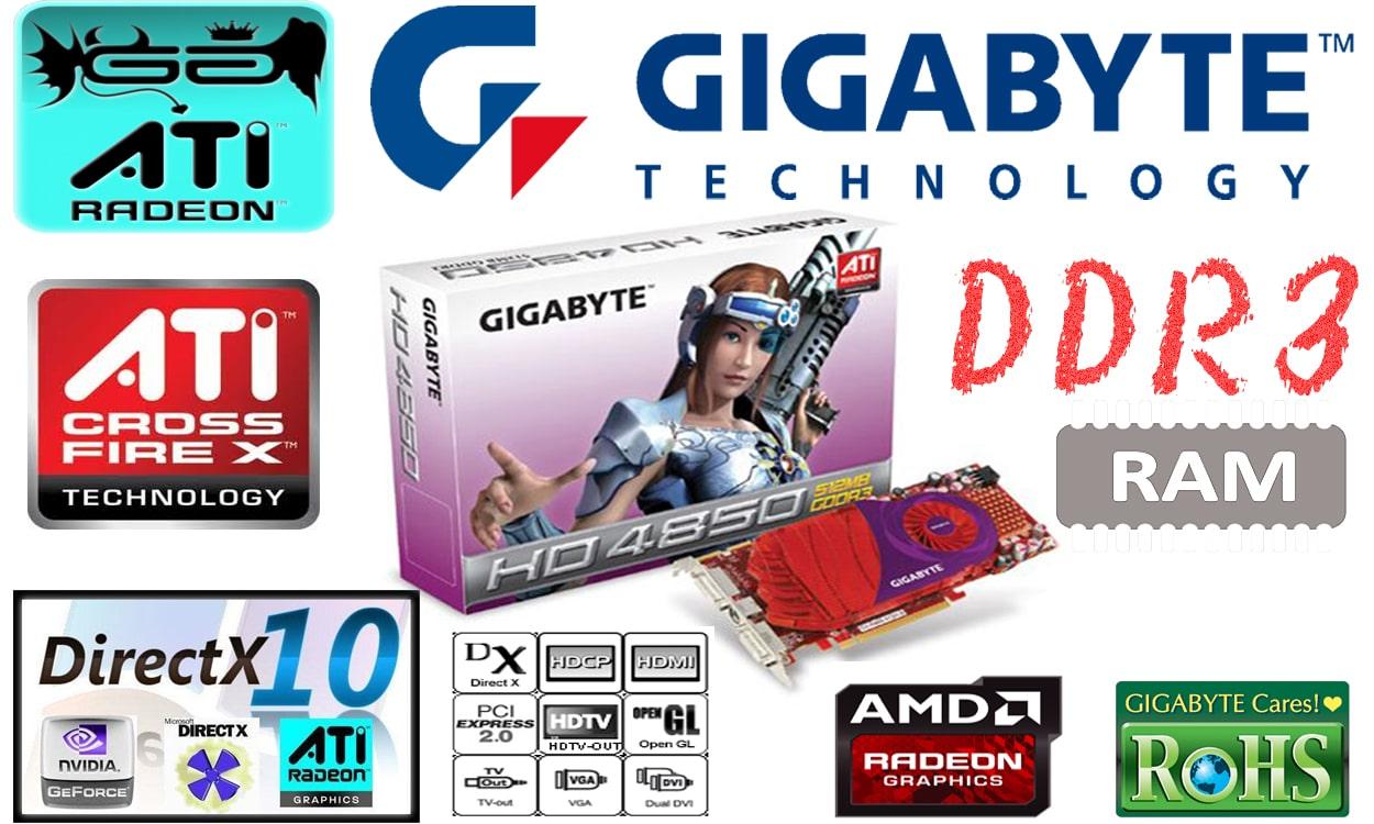 کارت گرافیک گیمینگ گیگابایت مدل HD 4850 GV-R485-512H-B
