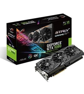کارت گرافیک gtx 1080 asus rog strix 8gb