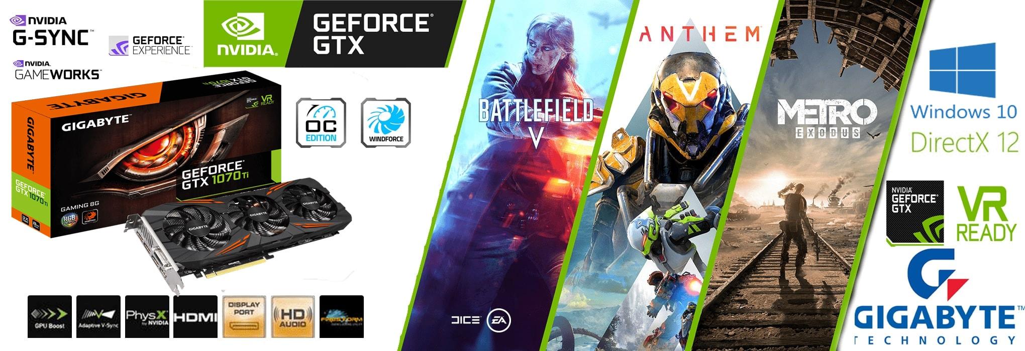 کارت گرافیک GeForce® GTX 1070 Ti Gaming 8G