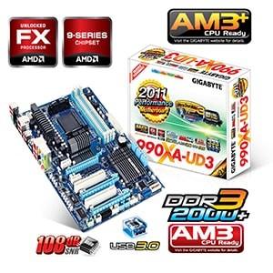 مادربرد گیگابایت سوکت ای ام تری پلاس +gigabyte 990xa-ud3 am3
