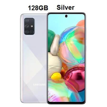 گوشی موبایل نقره ای Galaxy A71 128GB