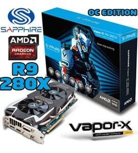 کارت گرافیک سه گیگابایت سافایر Radeon R9 280X VAPOR-X 3Gb DDR5
