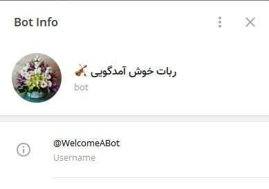 ربات خوش آمد گویی ساده و پیشرفته