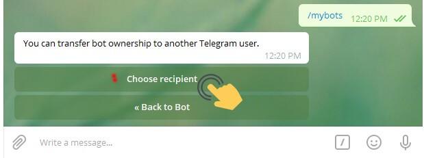 فروش کامل ربات تلگرام به شخص دیگر