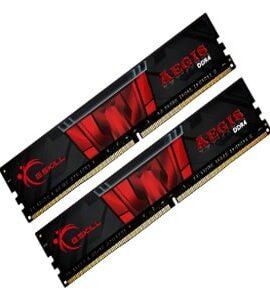 رم کامپیوتر جی اسکیل ram 2400 g skill aegis (2x4gb) ddr4