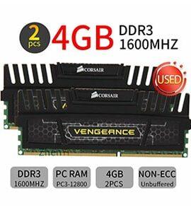 رم دوال چنل کورسیر Vengeance 8GB 2x4GB 1600 DDR3