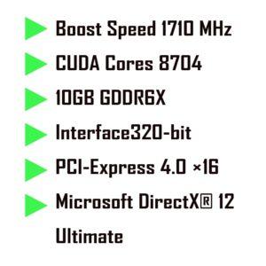 کارت گرافیک پی ان وای ار تی ایکس RTX 3080 gaming 10GB PNY