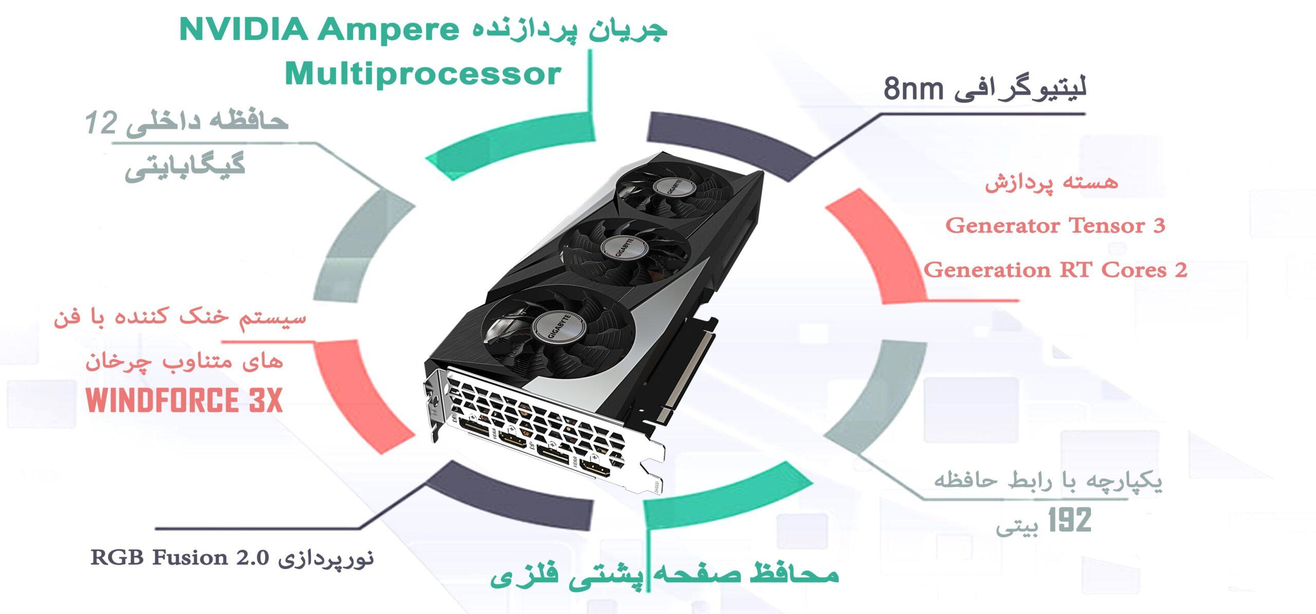 کارت گرافیک گیگابایت GeForce RTX™ 3060 GAMING OC 12G