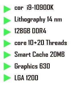 پردازنده cpu intel core i9-10900k comet lake