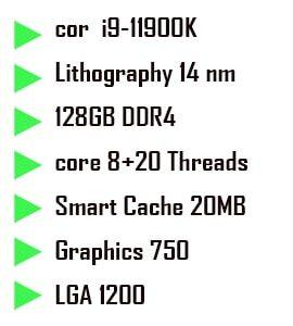 پردازنده گیمینگ اینتل Core i9 11900K Rocket Lake