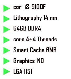پردازنده اینتل Coffee Lake سری Intel Core i3-9100F