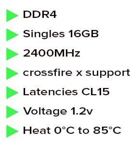 رم کامپیوتر کینگستون 16 گیگابایت Hyper x fury ddr4 16gb 2400mhz