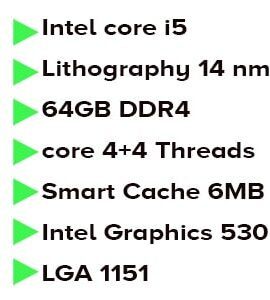 پردازنده اینتل sky lake مدل Intel Core i5-6500