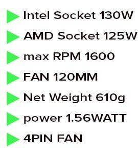 خنک کننده بادی دیپ کول مدل deepcool gammaxx s40