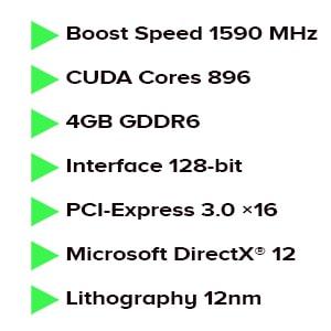 کارت گرافیک پلیت Palit GeForce GTX 1650 GP 4GB