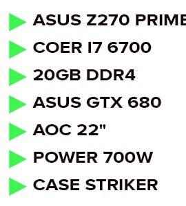 فول کیس گیمینگ DDR4 پلتفرم intel گرافیک Nvidia
